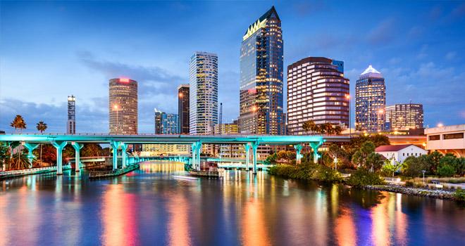 Tampa evening skyline